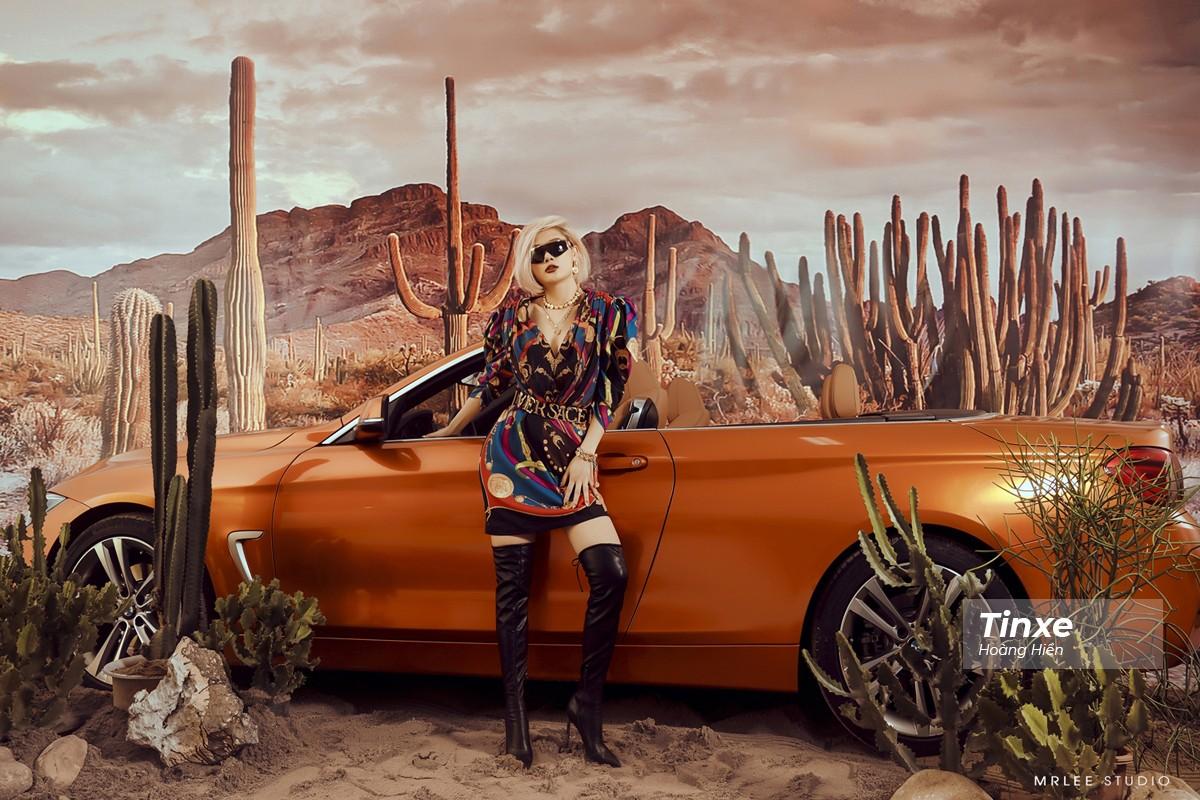 """Linh Remy khoe vẻ đẹp cá tính và cực """"Tây"""" bên chiếc BMW mui trần - 2"""