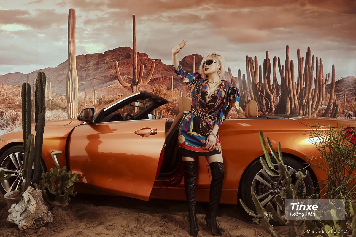 """Linh Remy khoe vẻ đẹp cá tính và cực """"Tây"""" bên chiếc BMW mui trần - 6"""