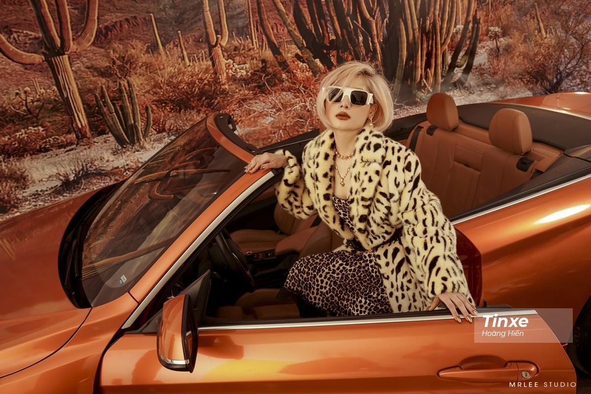 """Linh Remy khoe vẻ đẹp cá tính và cực """"Tây"""" bên chiếc BMW mui trần - 11"""