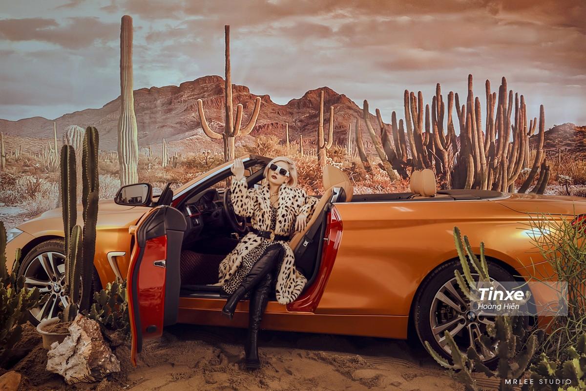 """Linh Remy khoe vẻ đẹp cá tính và cực """"Tây"""" bên chiếc BMW mui trần - 1"""