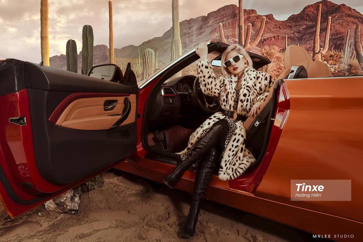 """Linh Remy khoe vẻ đẹp cá tính và cực """"Tây"""" bên chiếc BMW mui trần - 13"""