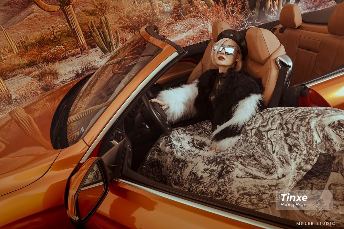 """Linh Remy khoe vẻ đẹp cá tính và cực """"Tây"""" bên chiếc BMW mui trần - 4"""
