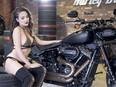 Cô nàng nóng bỏng bên Harley-Davidson