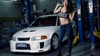 Nóng mắt với người đẹp Trương Hủ Phi bên chiếc Mitsubishi EVO V - 4