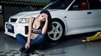 Nóng mắt với người đẹp Trương Hủ Phi bên chiếc Mitsubishi EVO V - 6