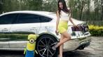 Vương Đóa Đóa tạo dáng đáng yêu, nhí nhảnh bên Audi A5 mạ bạc toàn thân - 6