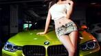 Người đẹp Y Ngạn khoe dáng gợi cảm, rửa xe mát mẻ bên BMW 3-Series F35 - 1