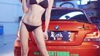 Nóng người với hình ảnh Lưu Tịnh Di diện bikini, khoe thân thể nuột nà bên BMW 1M - 11