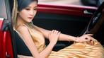 Ngắm hot girl A Chước tạo dáng thiết tha, xinh như tiên nữ bên Volkswagen Beetle - 4