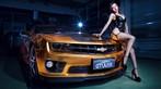 Người mẫu Tôn Minh Lộ khoe thân thể nóng bỏng bên Chevrolet Camaro độ hoàng kim - 9