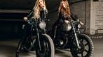 Hai cô nàng cá tính bên Yamaha SR400 và Yamaha XS400 độ - 4