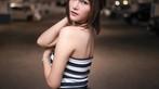 Thơ thẩn trước người đẹp Thái Lan có khuôn mặt đáng yêu, làn da trắng bóc trong bãi đỗ xe - 6