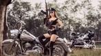 """Nữ chiến binh Thỏ so kè độ nóng bỏng với """"xế nổ"""" Harley-Davidson - 8"""