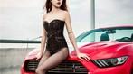 Hot girl thản nhiên diện nội y gợi cảm để xin đi nhờ xe Ford Mustang - 15