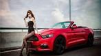 Hot girl thản nhiên diện nội y gợi cảm để xin đi nhờ xe Ford Mustang - 6