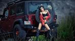 Người mẫu gốc Hoa thể hiện cá tính, khoe vẻ gợi cảm bên Jeep Wrangler - 1