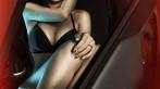 Mỹ nhân khoe thân thể tuyệt trần trong nội y màu đen, pose dáng đẹp cùng Cadillac - 6