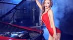 Toát mồ hôi trước người đẹp diện váy đỏ nóng bỏng, lộ ngực căng tròn cùng Ferrari - 7