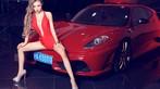 Toát mồ hôi trước người đẹp diện váy đỏ nóng bỏng, lộ ngực căng tròn cùng Ferrari - 8