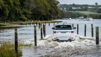 """Range Rover Sport động cơ điện vẫn lội biển """"ngon lành"""""""