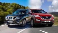 So sánh xe Hyundai SantaFe 2017 và Nissan X-Trail 2017: So găng giữa 2 chiến binh Đông Á