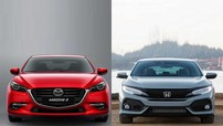 So sánh xe Honda Civic 2017 và Mazda 3 2017: Chia đôi cán cân giữa chất lượng và giá bán