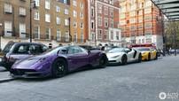 Bộ 3 siêu xe hàng hiếm của Hoàng gia Qatar đọ dáng cùng nhau trên phố London