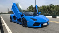 Sau nhiều tháng ở ẩn, Lamborghini Aventador màu xanh Lemans tái xuất trên phố
