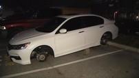 """Chiếc Honda Accord """"nhọ nhất năm"""": 1 tuần bị ăn trộm bánh xe 2 lần"""