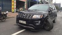 Bắc Ninh: SUV tiền tỷ Ford Explorer đang đi bỗng dưng gãy càng A