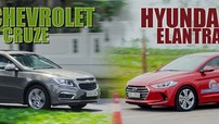 """So sánh xe Chevrolet Cruze và Hyundai Elantra: """"Lão làng"""" đấu với """"tân binh"""""""