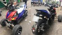 """Yamaha NVX độ 3 bánh độc đáo của người khuyết tật tại Sài thành thay áo """"Red Bull"""""""