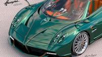 """""""Thánh cuồng màu xanh"""" lại gây choáng khi tậu thêm siêu xe Pagani Huayra mui trần"""