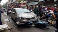 Tài xế xe Kia K3 say rượu, gây tai nạn liên hoàn tại Hà Nội