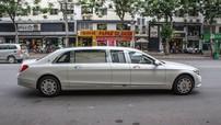 Vừa mới lộ ảnh khui công, Mercedes-Maybach S600 Pullman đã bị bắt gặp trên đường phố Sài thành