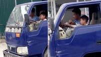 Hãi hùng với cảnh bé trai 8 tuổi lái xe tải lắc lư trên đường