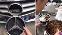 """""""Vặt trộm"""" logo xe Mercedes-Benz để nổi tiếng trên mạng, thanh niên sa lưới"""