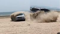 Quảng Ninh: Lexus LX570 đời cũ drift tại bãi biển Trà Cổ