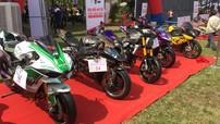 """Hàng trăm mô tô """"khủng"""" tụ tập tham dự đại hội mô tô ở Đồng Nai"""