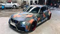 BMW 3-Series biển số Vũng Tàu độ wide body kit, sơn đổi màu camo cá tính