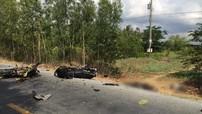 Yamaha Exciter 150 chở 3 gây tai nạn tại Sóc Trăng
