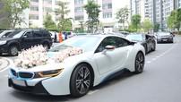 Nữ diễn viên Diệp Lâm Anh về nhà chồng trên xe thể thao BMW i8 từng có giá bán 8 tỷ Đồng