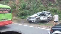 Toyota Fortuner nát bét trong vụ tai nạn trên dốc Cun khiến 4 người thương vong
