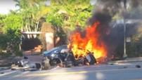 Tesla Model S đâm vào tường, bùng cháy khiến hai học sinh cấp 3 tử vong
