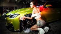 Người đẹp Y Ngạn khoe dáng gợi cảm, rửa xe mát mẻ bên BMW 3-Series F35