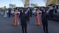 """Xôn xao với video dàn xe Tesla Model X """"đập cánh"""" trong buổi rước dâu tại Trung Quốc"""