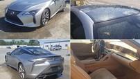 """Coupe hạng sang Lexus LC500 bị móp vì mưa đá """"mất giá"""" thê thảm"""