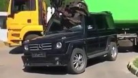 Xót xa với cảnh Mercedes-Benz G-Class bị nghiền nát ở bãi phế liệu