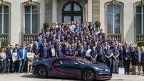 Chiếc siêu xe Bugatti Chiron thứ 100 xuất xưởng, có giá hơn 3 triệu USD