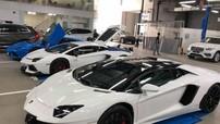 """Loạt siêu xe Lamborghini đi """"khám bệnh"""" trước ngày tham dự hành trình Car & Passion"""